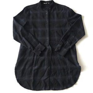 HELMUT LANG Plaid Oversized Shirt Size Large